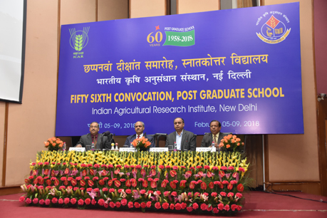 56th Convocation, PG School, IARI on 5.2.2018