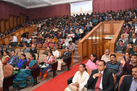 Audience at 56th B.P. Pal Auditorium during 1st day of 56th IARI Convocation Week
