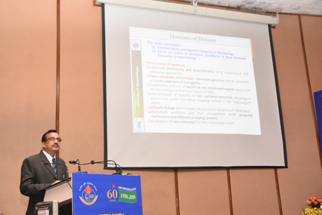 Professor's presentation during 56th convocation at IARI