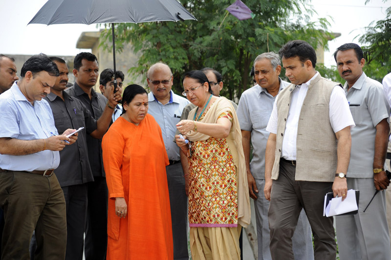 Sushri Uma Bharti's visit to Waste Water Treatment Plant