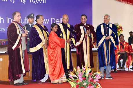 IARI Best student in Ph.D receiving award from Honourble President of India