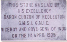 Foundation stone of the Institute